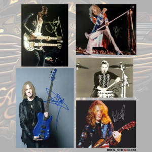aerosmith autographs decal