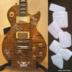 aerosmith autographs for guitars