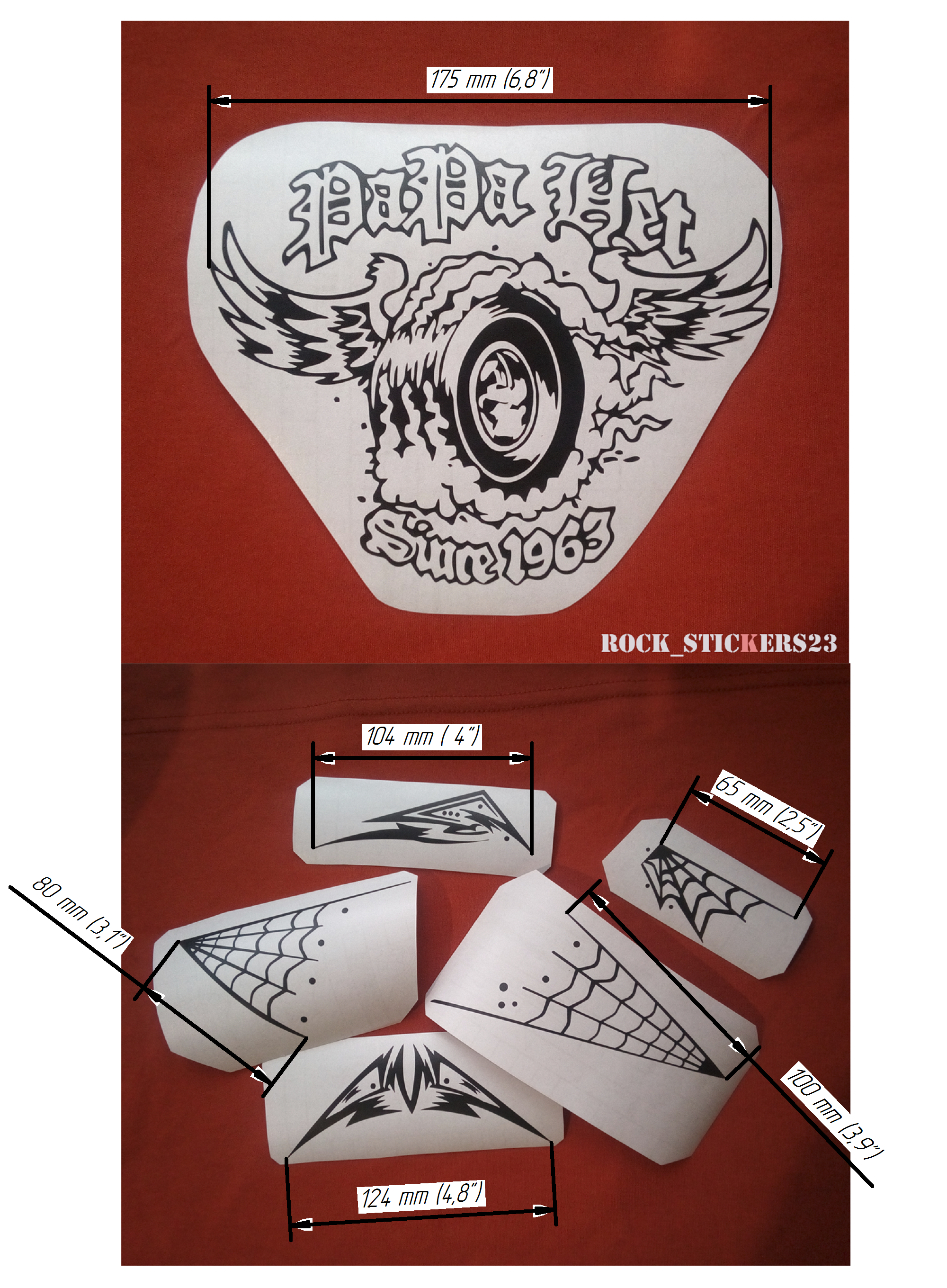 decal metal guitar stickers
