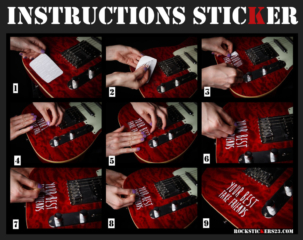 Instruction how to glue vinyl stickers