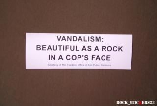 vandalism beautiful as a rock sticker decal