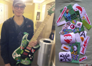 Steve Vai guitar green replica