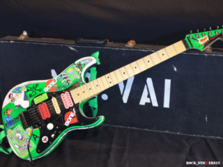 Steve Vai's Green Meanie guitar stickers