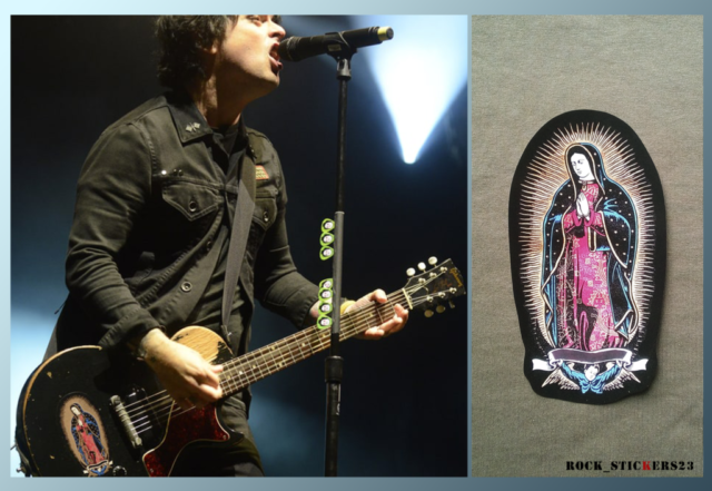 The Virgin Mary green day guitar stickers BJ