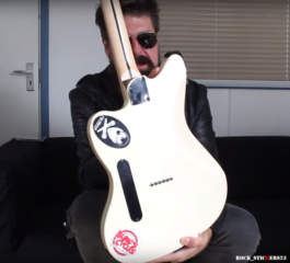 jim Root Fender Jazzmaster stickers