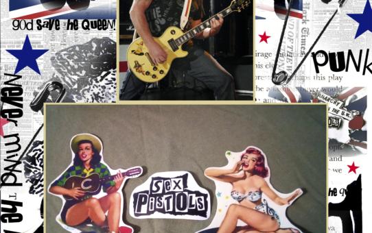sex pistols guitar decal