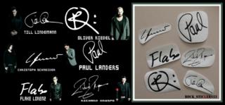 stickers guitar Rammstein