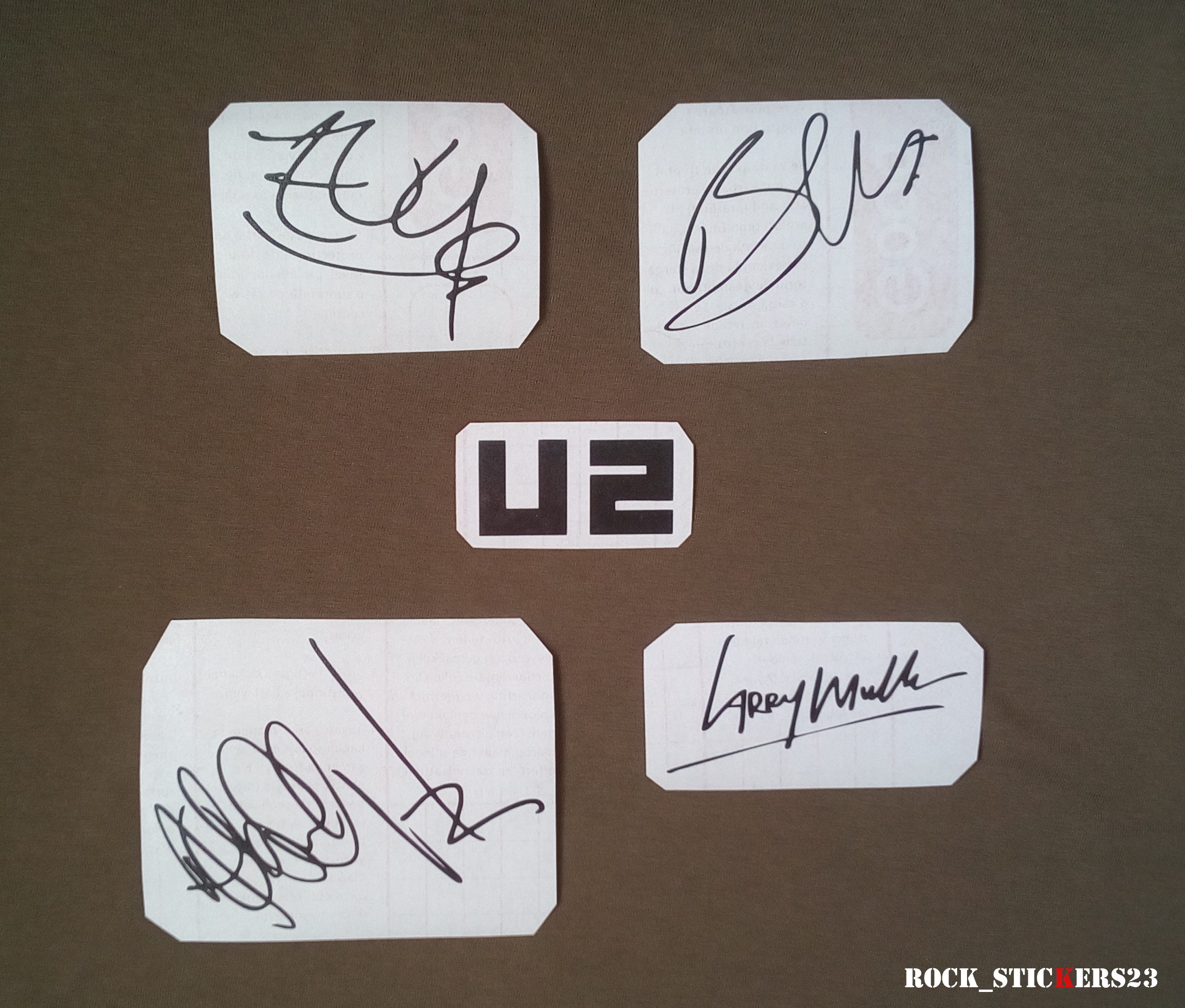 U2 guitar stickers