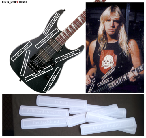 guitar decal jeff hanneman