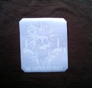 vinyl decal skull anarchy rock