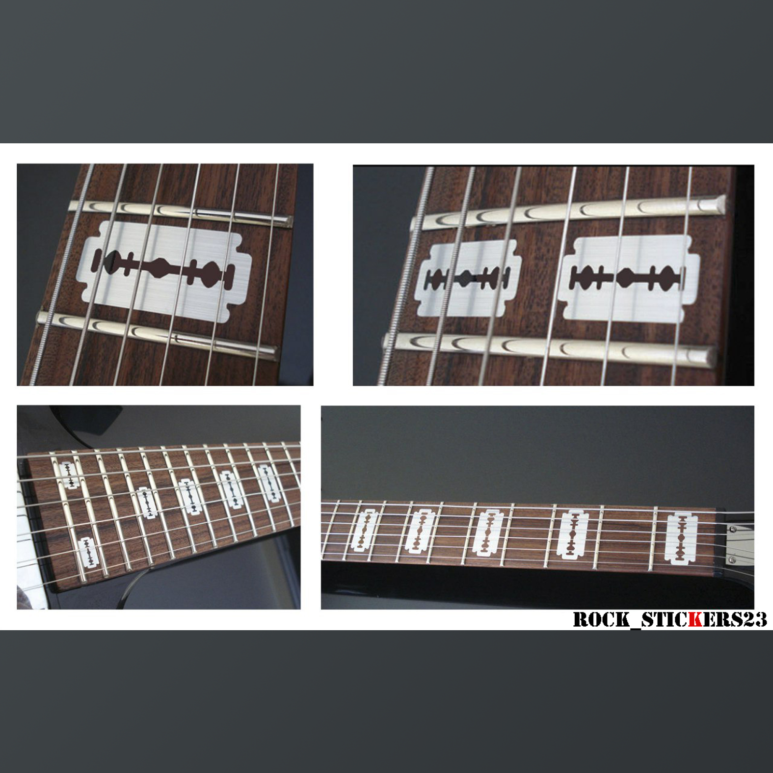 razorblade sticker guitar