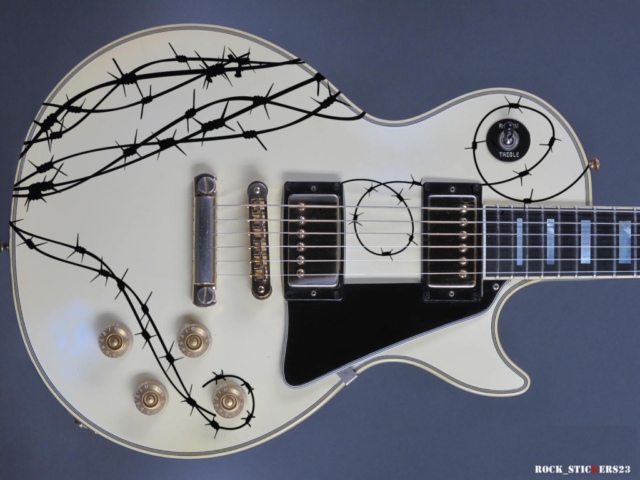 BARB WIRE guitar decal