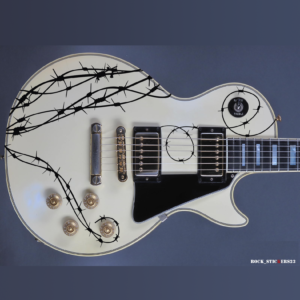 BARB WIRE guitar decal stickers