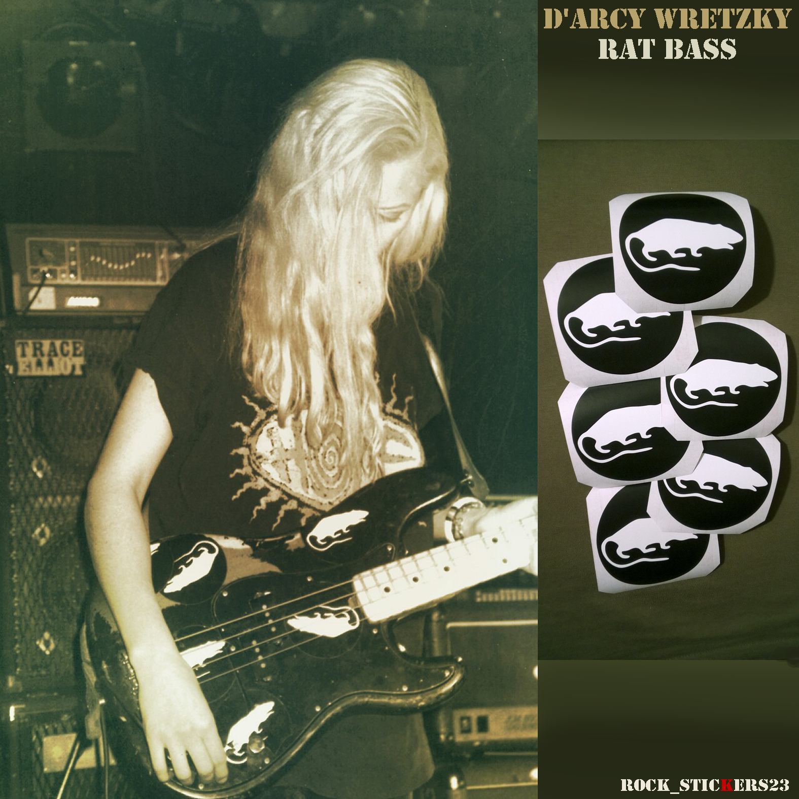 stickers replica d'arcy wretzky