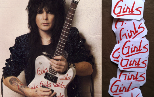Girl guitar stickers