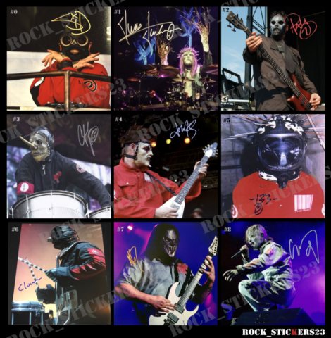 slipknot autographs decal stickers vinyl