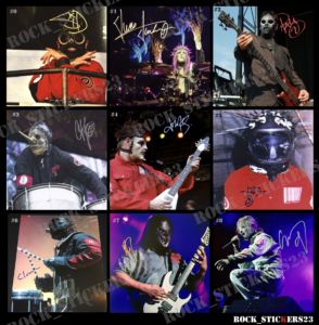 slipknot autographs decal stickers vinyl