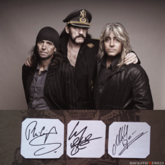 Motörhead autographs stickers