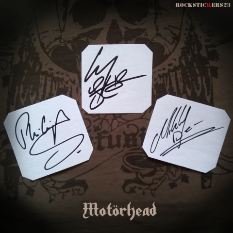 signature autographs stickers