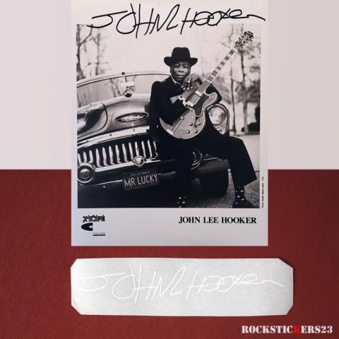 John Lee Hooker autograph