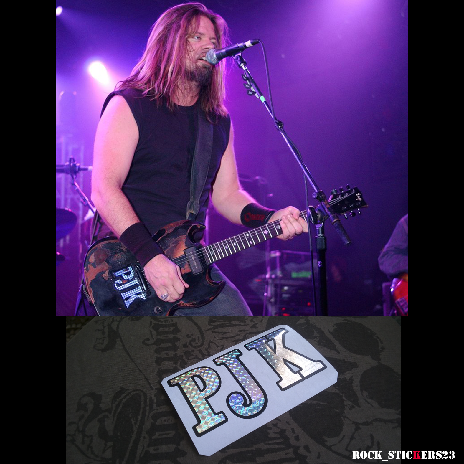 Pepper Keenan PJK stickers decal guitar