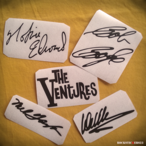 Ventures guitar autographs