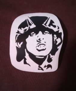Angus McKinnon Young guitar decal