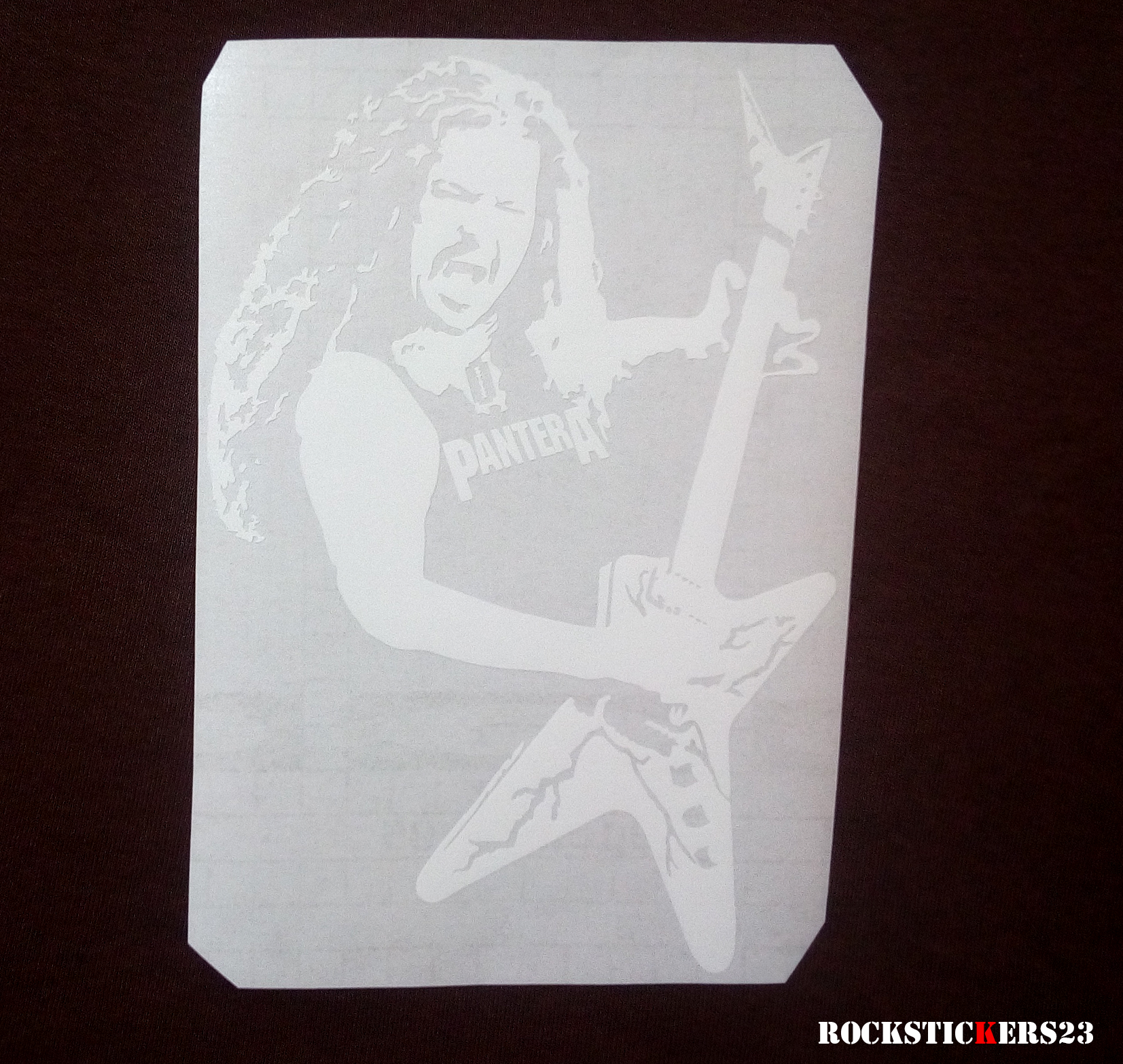 stickers window pantera band stickers