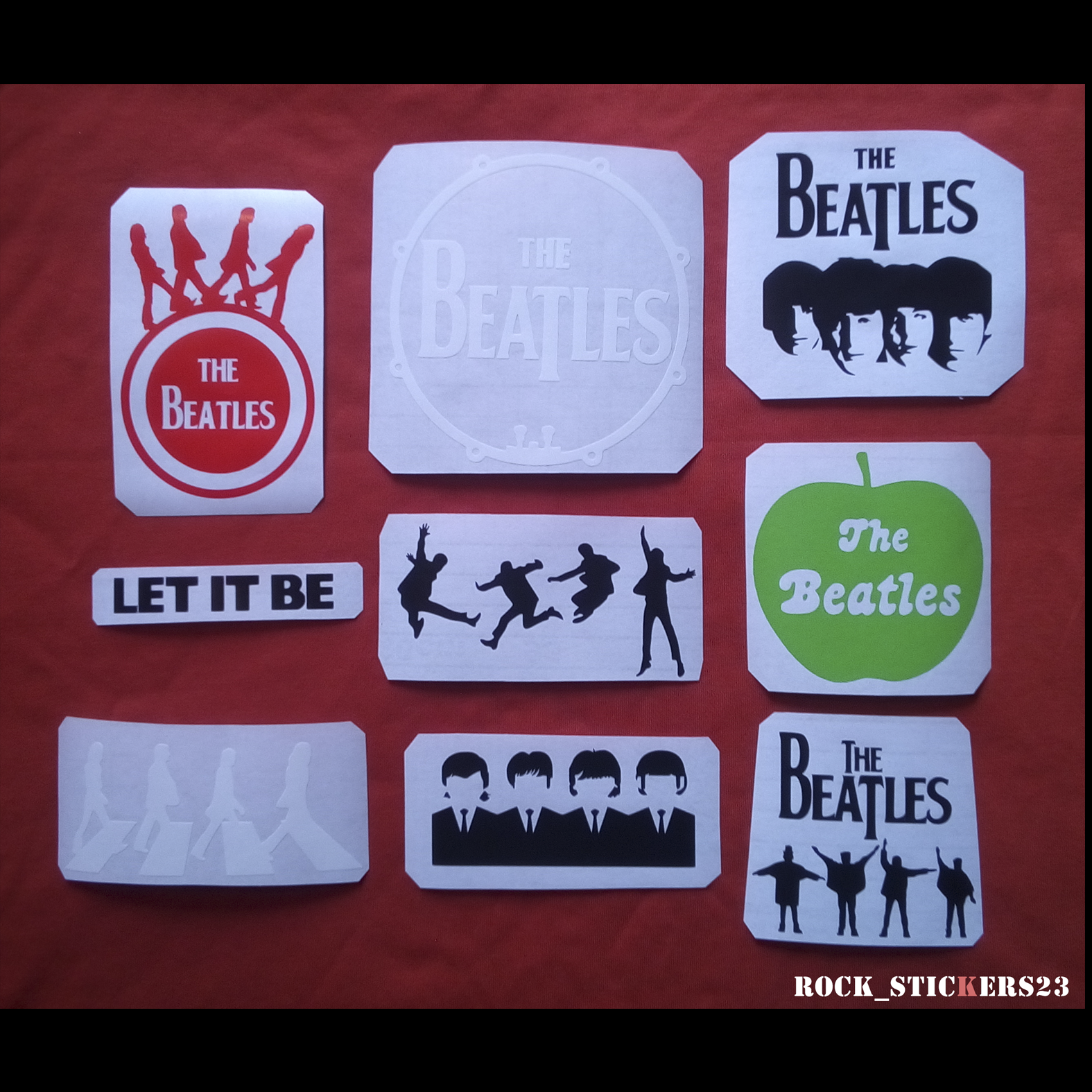 The Beatles band stickers