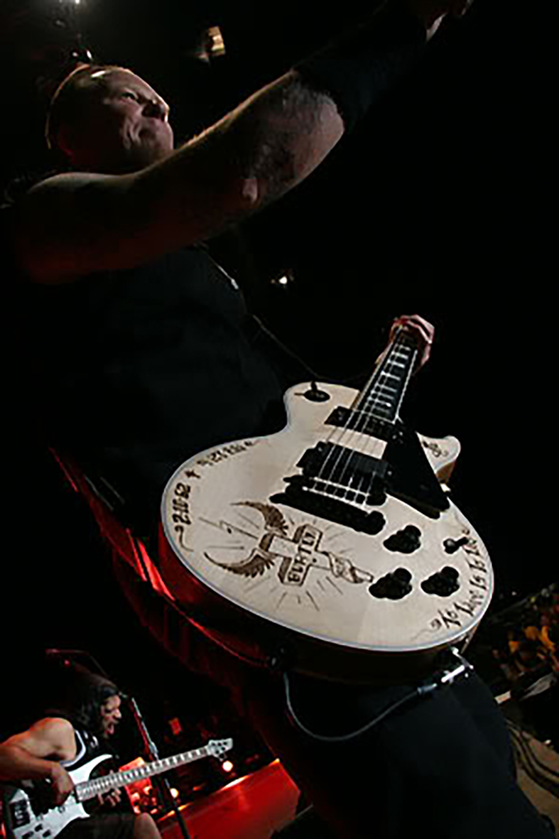 burton gibson les paul decal