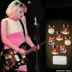 courtney love guitar victorian cat stickers decal Jazzmaster decal Hole