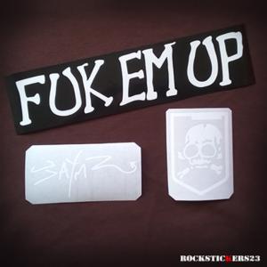 fuk em up stickers guitar