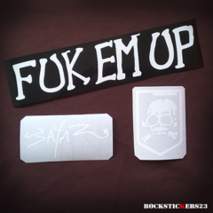 fuk em up stickers guitar