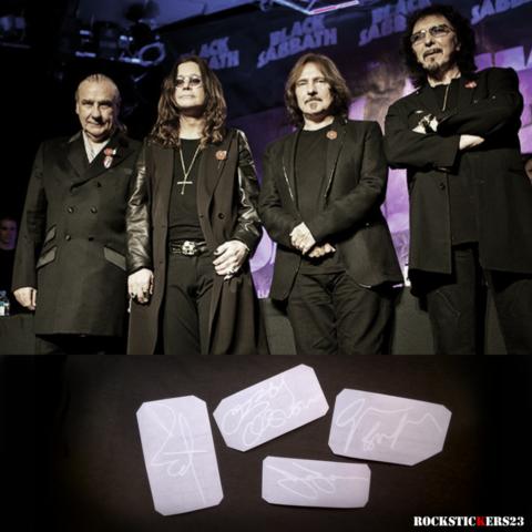 geezer butler autographs Black Sabbath
