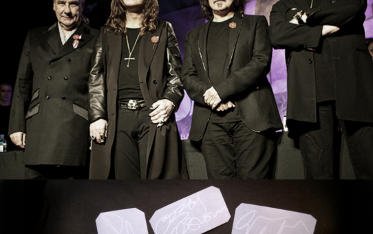 geezer butler autographs Black Sabbath