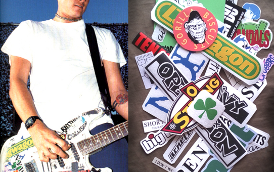 Tom DeLonge blink 182 decal stickers decal replica strat cat