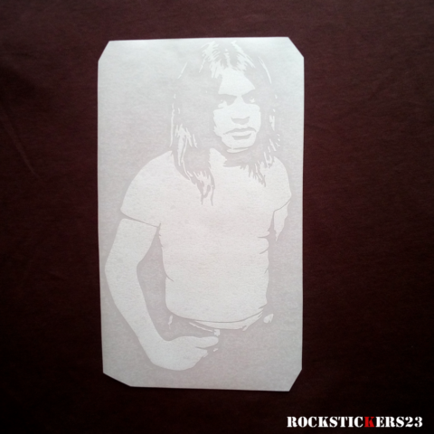 Malcolm Young ACDC decal stickers car