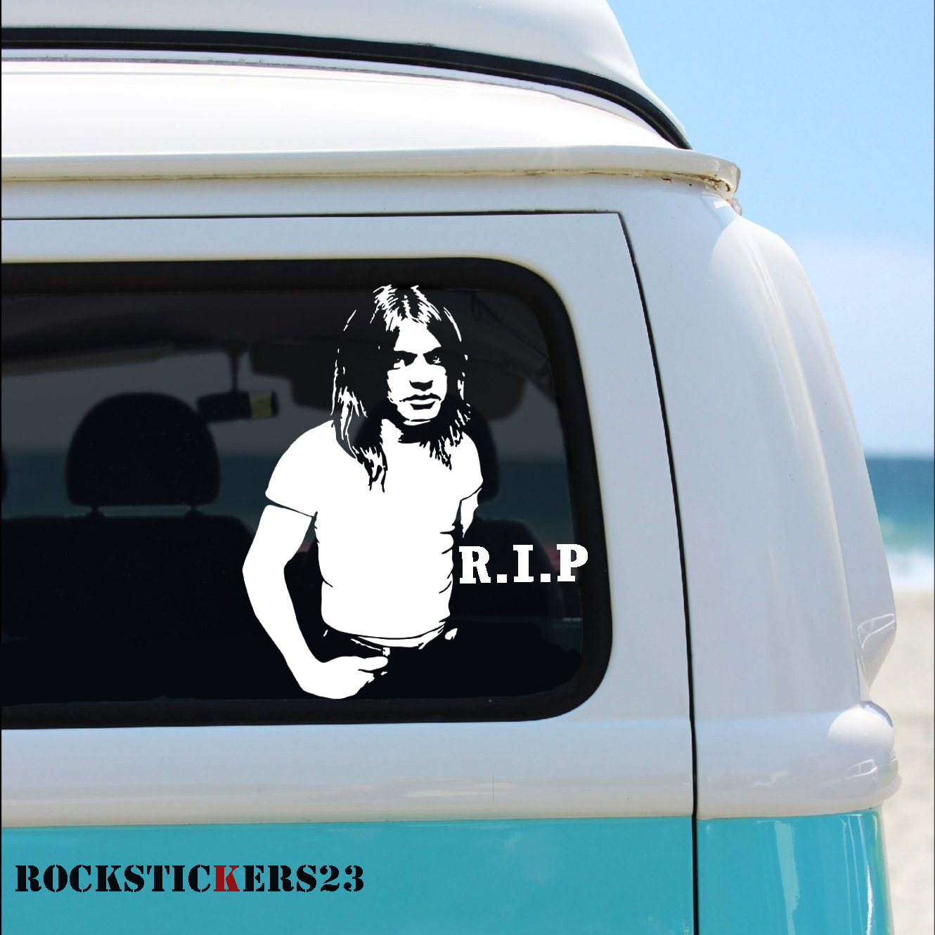 Malcolm Young decal stickers