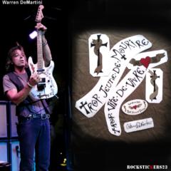 Warren DeMartini decal Charvel left handed guitar