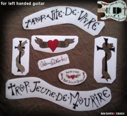 DMSF Custom Warren DeMartini decal Charvel left handed guitar