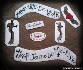 Warren DeMartini guitar replica stickers