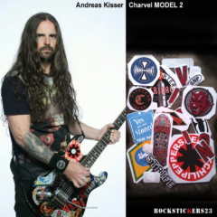 Andreas Kisser guitar stickers decal